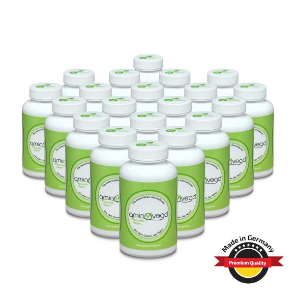 20er Set aminovega® - 20x 120 Tabs á 1 g - 8 essentielle Aminosäuren, amino eaa